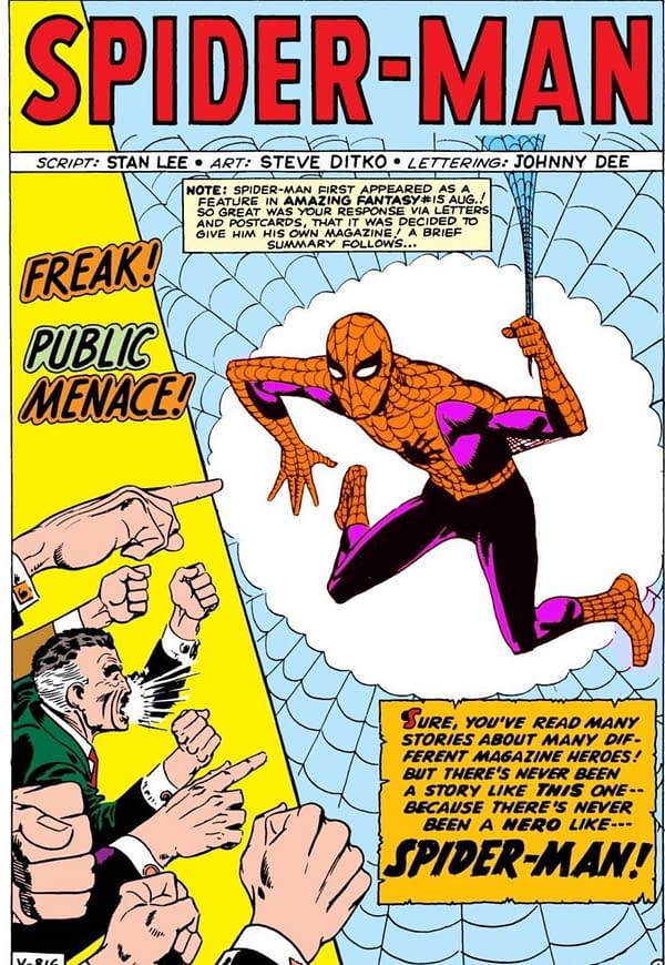 Steve Ditko Wanted Spider-Man to be Orange and Purple