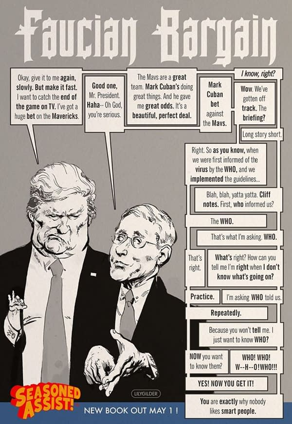 Kyle Baker Teases a New Comic For May 1st With Trump and Fauci.