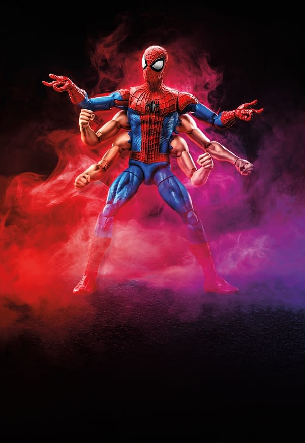 Marvel Legends Series 6-inch Six Arm Spider-Man Figure (Spider-Man wave)