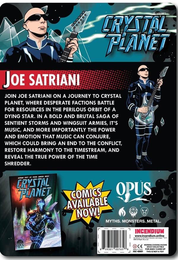 Tony Lee & Richard Friend Create Joe Satriani Comic, Crystal Planet