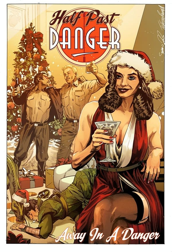 Half Past Danger Christmas Special cover. Credit: Stephen Mooney's Kickstarter.
