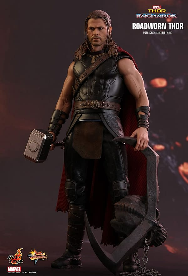 Hot Toys 'Roadworn Thor' 1/6th Scale Figure Is A Bit Spoilery