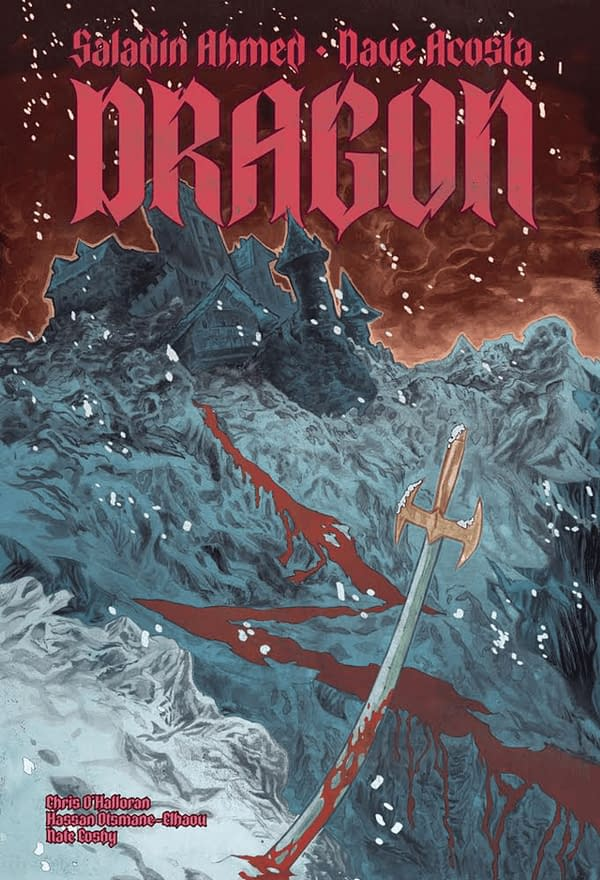 Saladin Ahmed and Dave Acosta's Dragon cover. Credit: DRAGON's Kickstarter page.