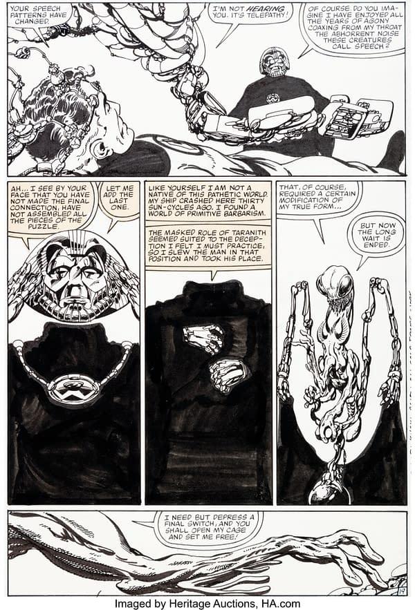 All Of John Byrne's Fantastic Four #254 Original Artwork At Auction