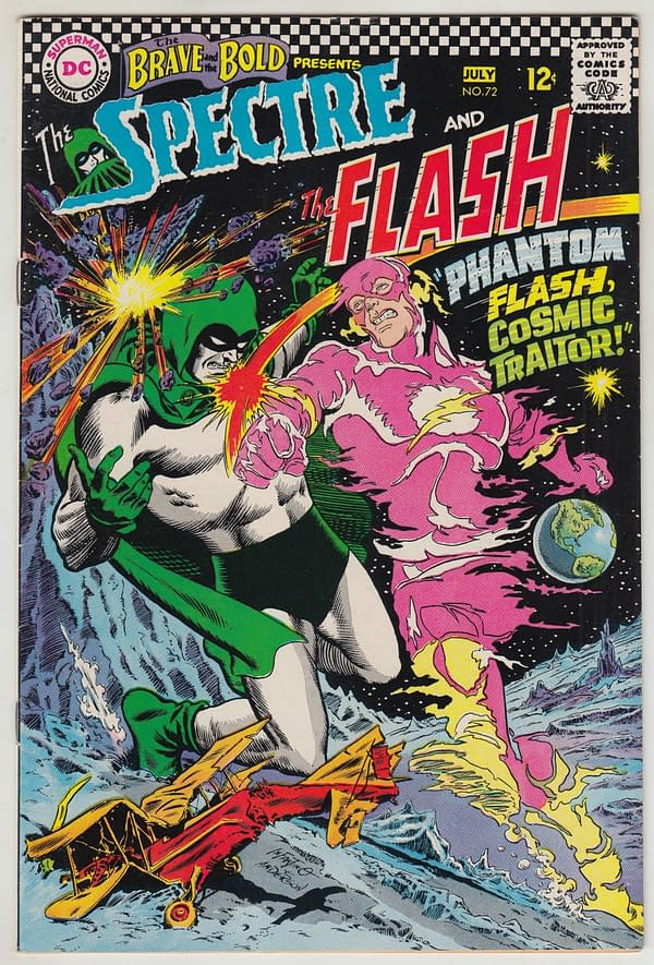 Brave And The Bold #72 Featuring Wild Flash/Spectre Cover On Auction