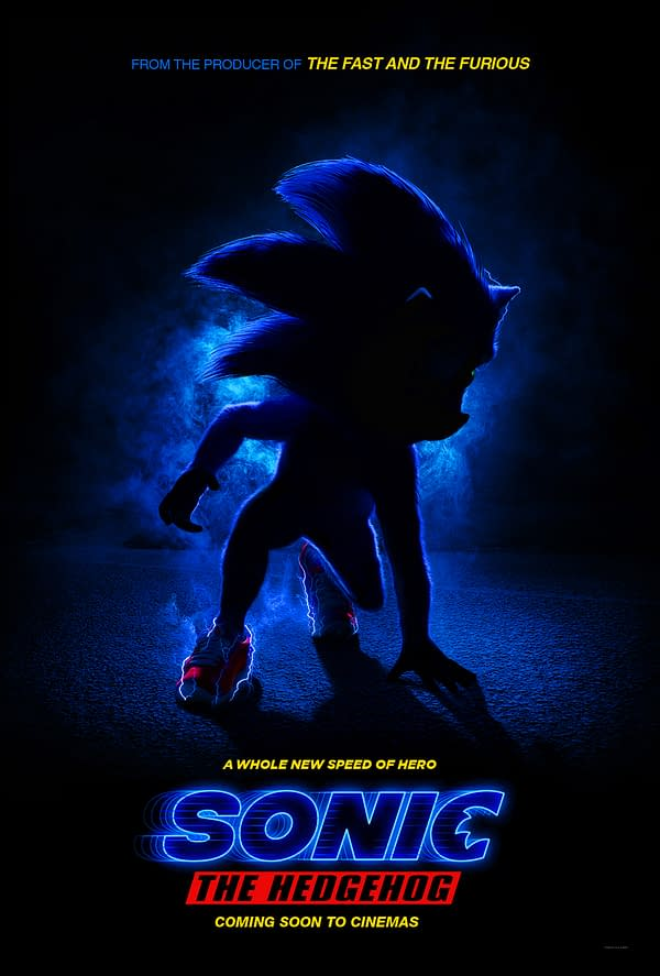 New Teaser Poster For 2019's Sonic The Hedgehog Movie