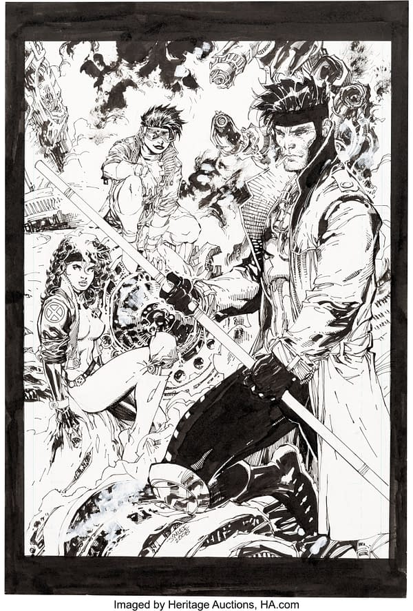 Unseen Jim Lee X-Men Art Created Over Ten Years, Goes To Auction