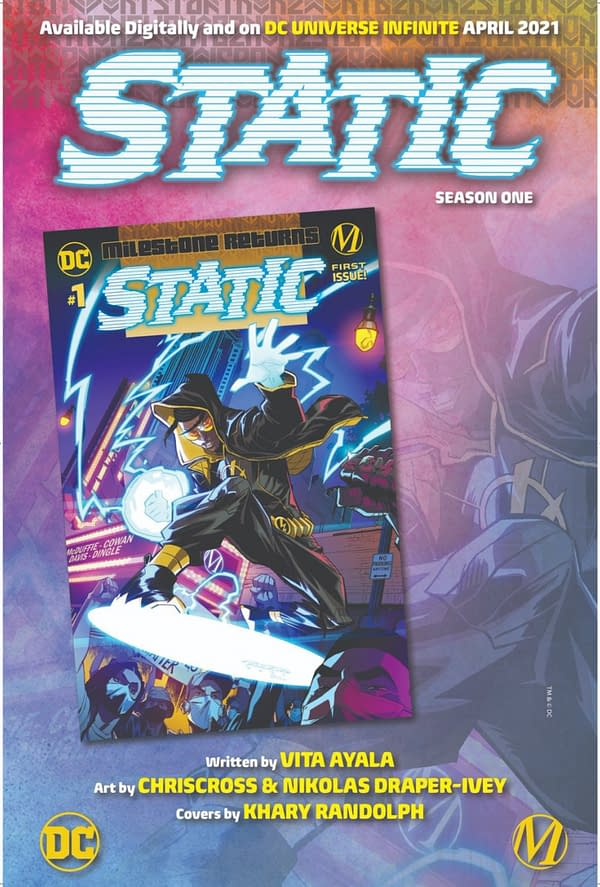 Static: Season One launches by Vita Ayala, ChrisCross and Nikolas Draper-Ivey from DC/Milestone in April