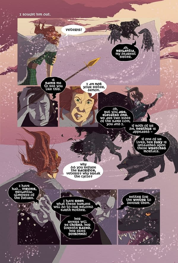 Thought Bubble Debut: Brigantia #1 By Chris Mole And Melissa Trender