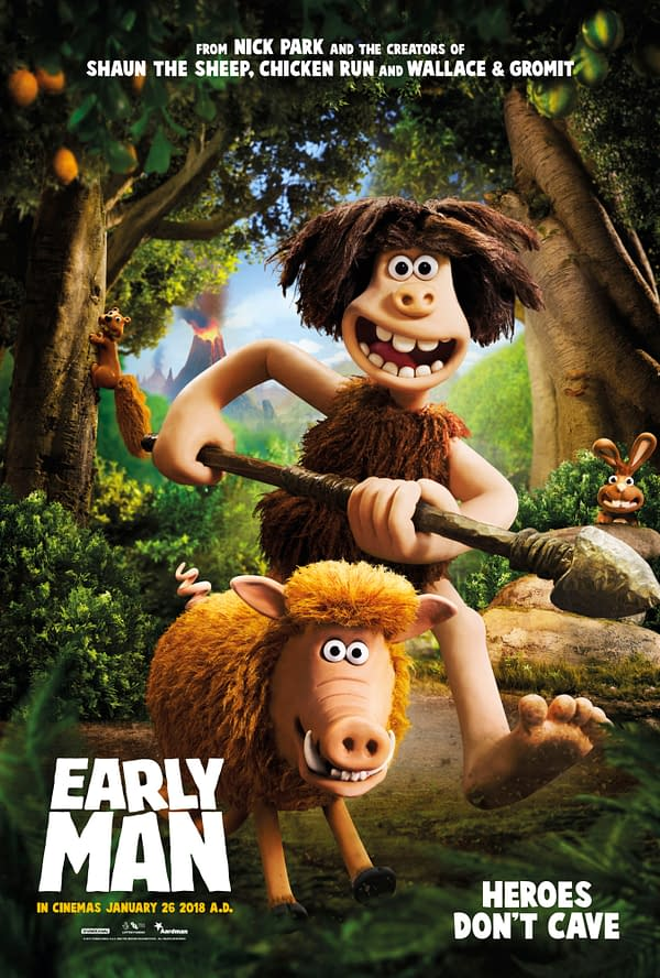 New Character Posters Released for Aardman's New Movie, Early Man