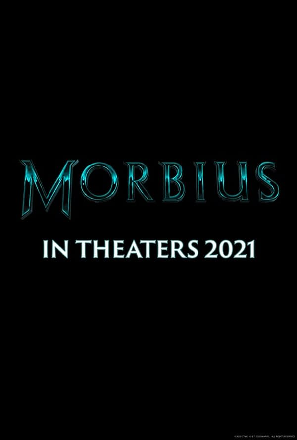 The official poster for Morbius. Image Credit: Sony Pictures
