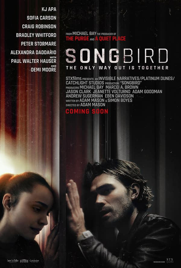 Songbird Trailer Debuts, Pandemic Drama Stars KJ Apa & Sophia Carson