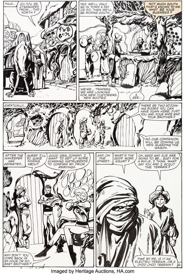 All Of Original Artwork to John Byrne's Fantastic Four #254 At Auction