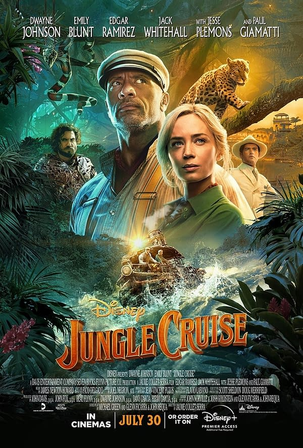 Jungle Cruise: 2 New Posters, A Clip, & a Behind-The-Scenes Featurette