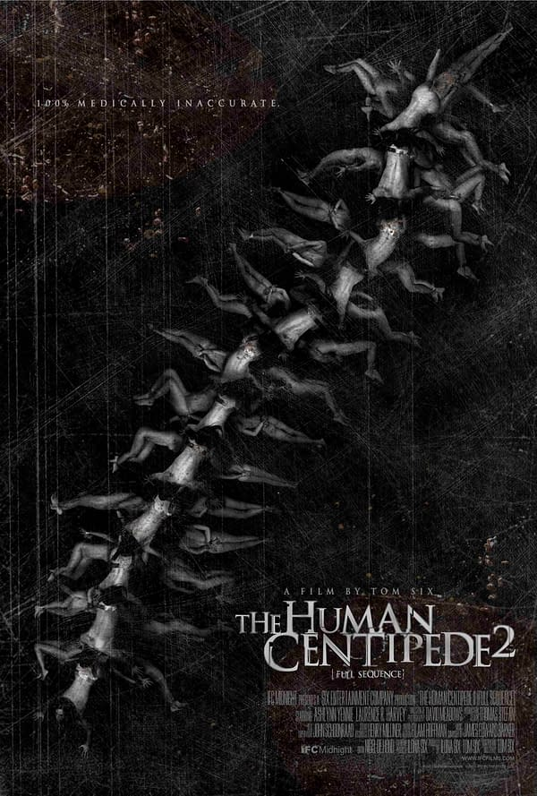 Shocking First Poster For The Human Centipede Part 2 Puts It All Out There