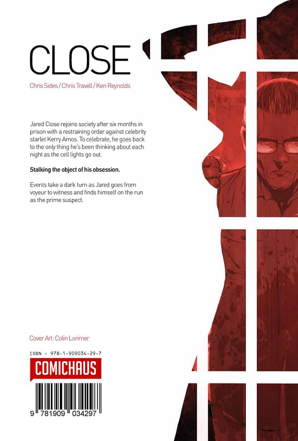 Close – a New Thriller Comic Debuting at Thought Bubble