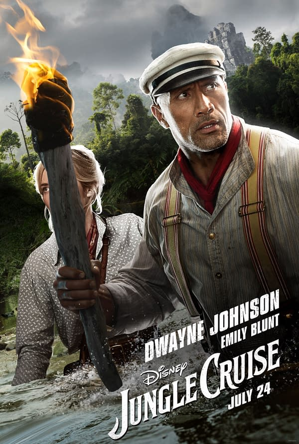 """Jungle Cruise"": New Trailer Tomorrow, His and Her Posters"