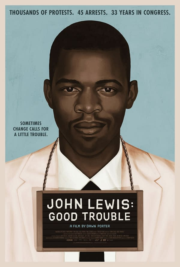 Promotional poster for John Lewis: Good Trouble, courtesy of Magnolia Pictures.