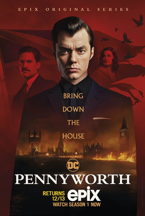 Pennyworth Season 2 releases new key art, teaser, and casting news (Image: EPIX)