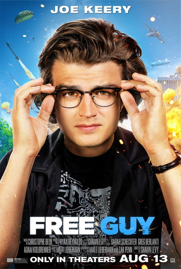 6 New Character Posters for Free Guy