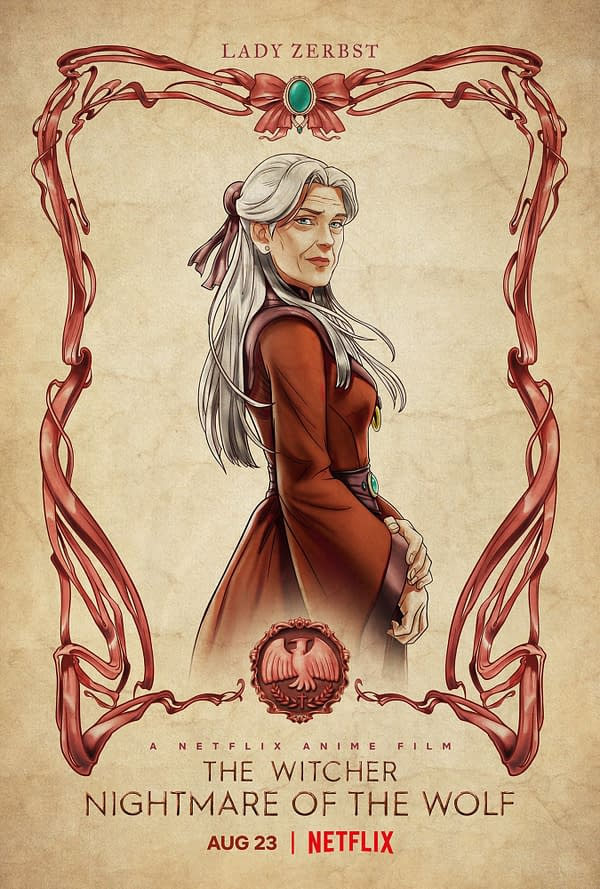 The Witcher: Nightmare of the Wolf Posters Intro Animated Prequel Cast