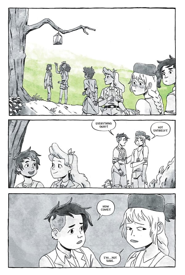 The Infernal Compass: First Look at First Lumberjanes OGN by Lilah Sturges and Polterink