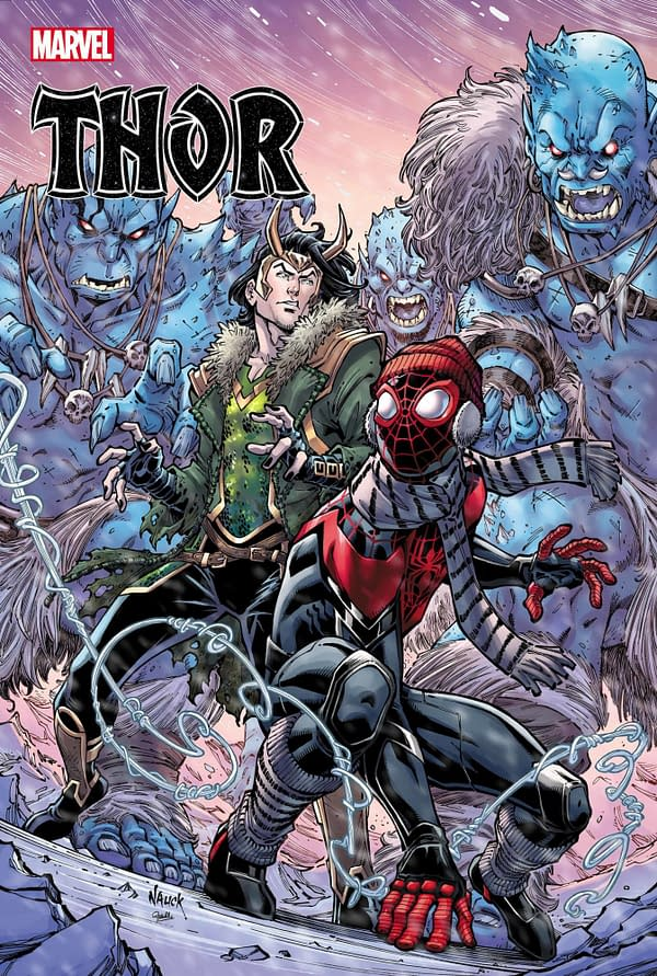 Cover image for THOR #17 NAUCK MILES MORALES 10TH ANNIV VAR