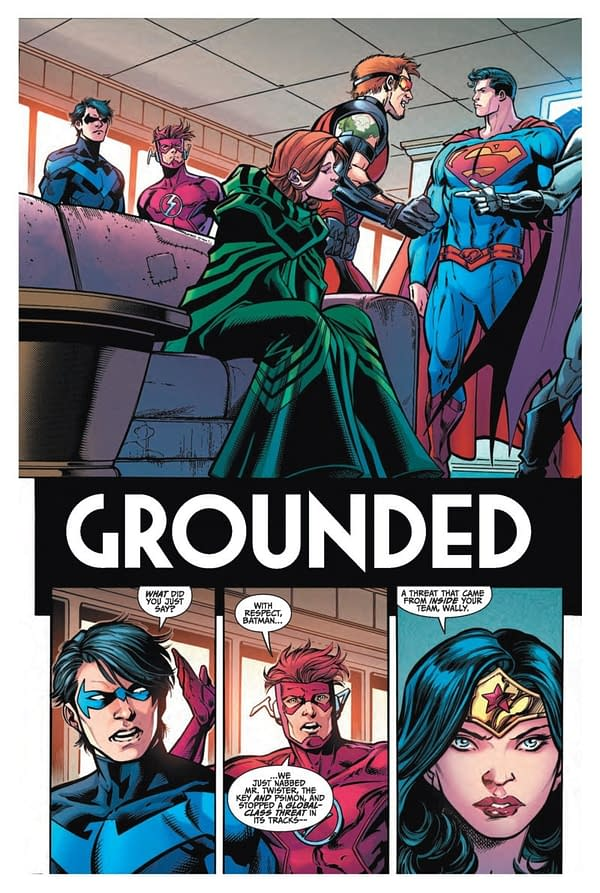 Titans #19 art by Paul Pelletier, Andrew Hennessy, and Adriano Lucas