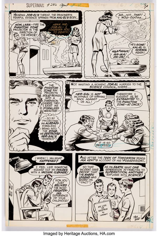 19 Pages Of Curt Swan Superman Original Artwork From $22 To $230
