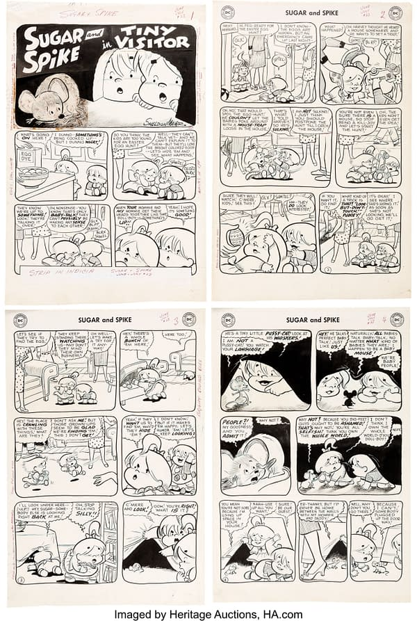 All 28 Original Sheldon Mayer Sugar & Spike #23 Art Pages At Auction