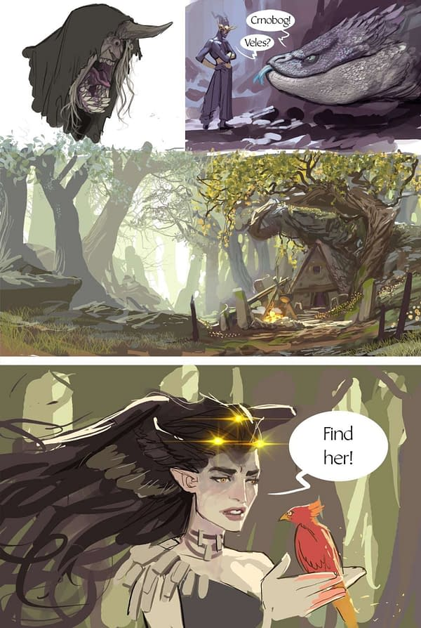 The Queen and the Woodborn preview art. Credit: @stjepansejic on Twitter