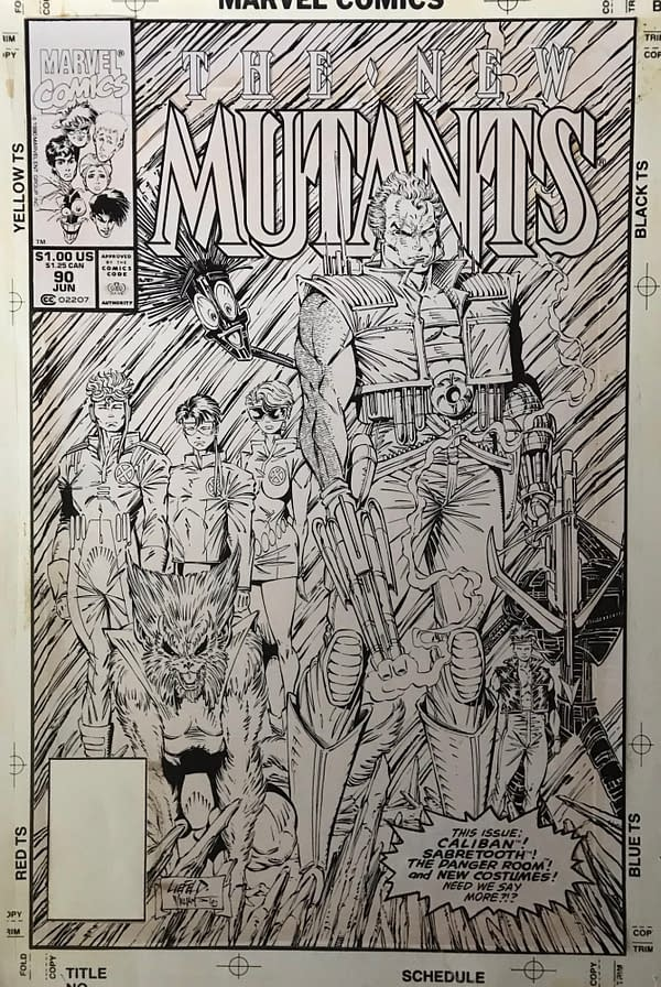 Rob Liefeld New Mutants Cover Stolen 30 Years Ago From Scott Williams