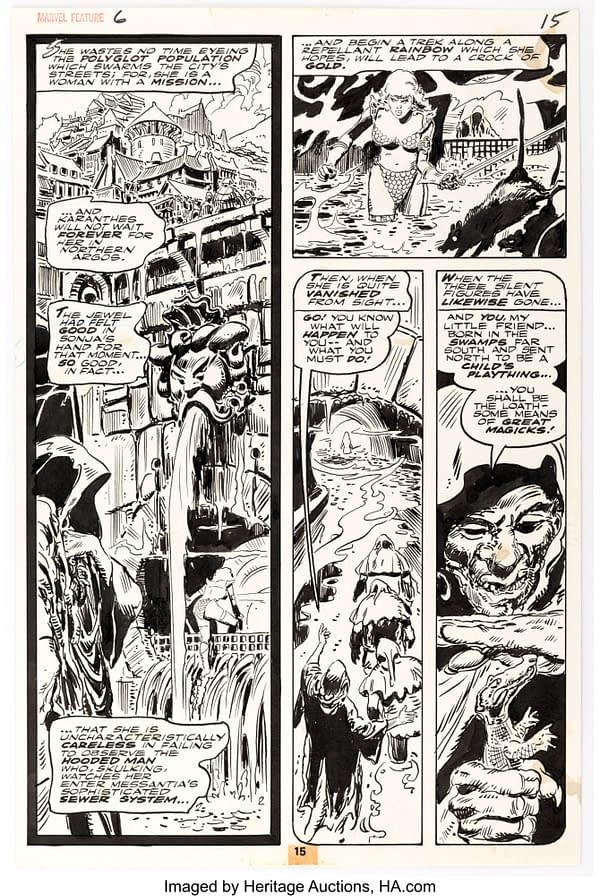 Frank Thorne Marvel Feature #6 Story Page 15 Original Art (Marvel, 1976)