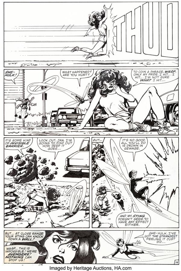 All Original Artwork to John Byrne's Fantastic Four #254 At Auction