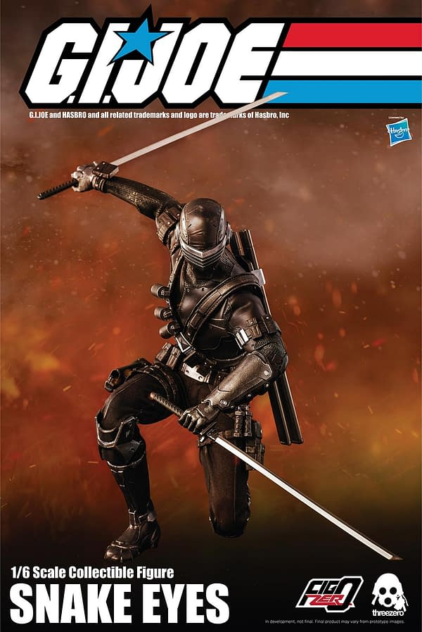 "GI Joe Snake Eyes Goes 12"" With Hasbro and Threezero"