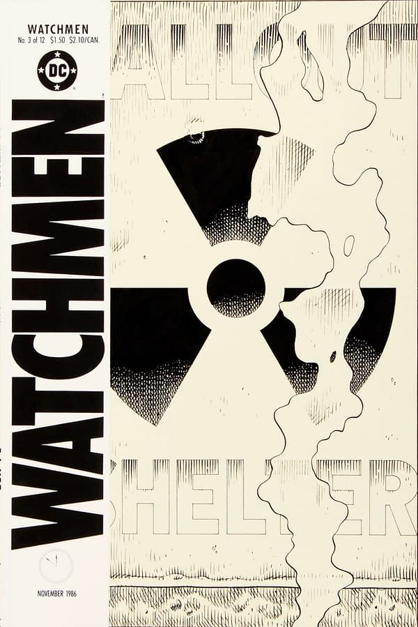 For Sale: Original Art For One Of The Most Iconic Comic Book Covers Ever (Hint: Dave Gibbons, Watchmen)