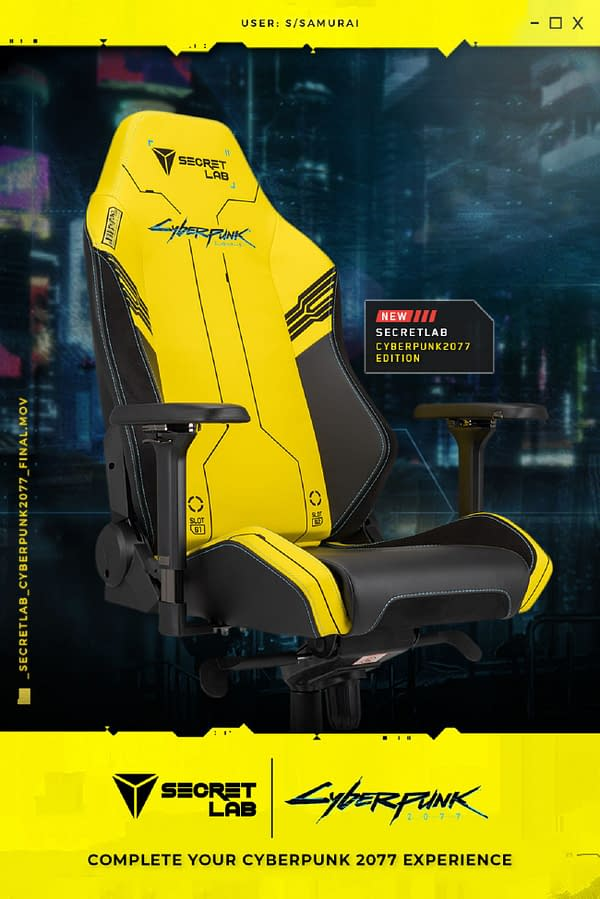 A look at the front of the chair, courtesy of Secretlab.