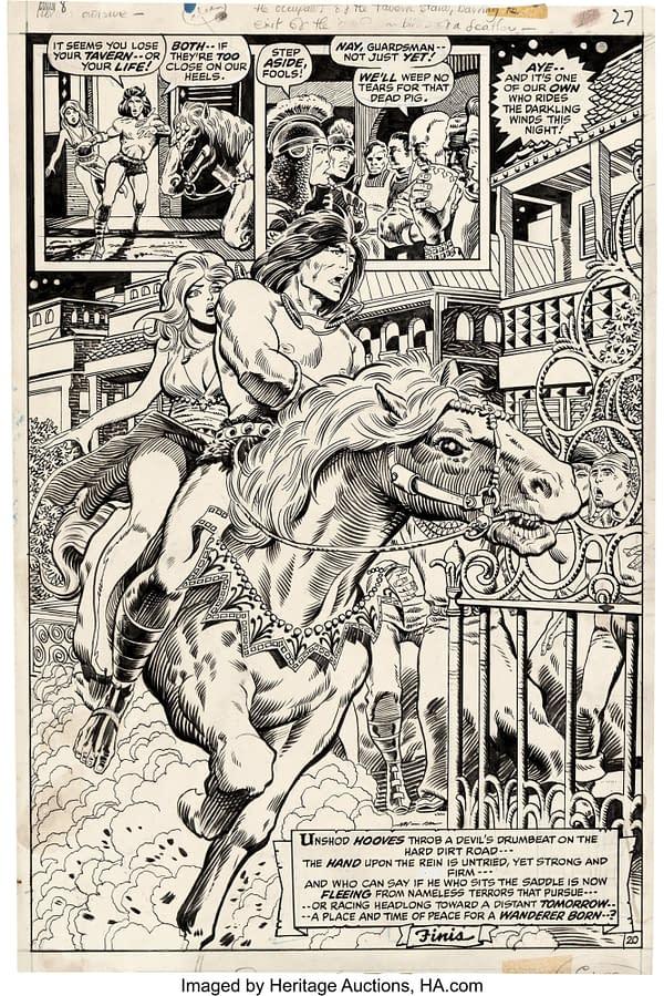 Barry Windsor-Smith Conan Page, Auctioning For $52,500, One Day To Go