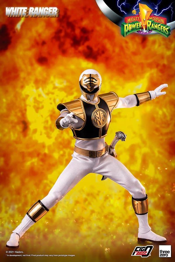 Mighty Morphin Power Rangers White Ranger Comes to threezero