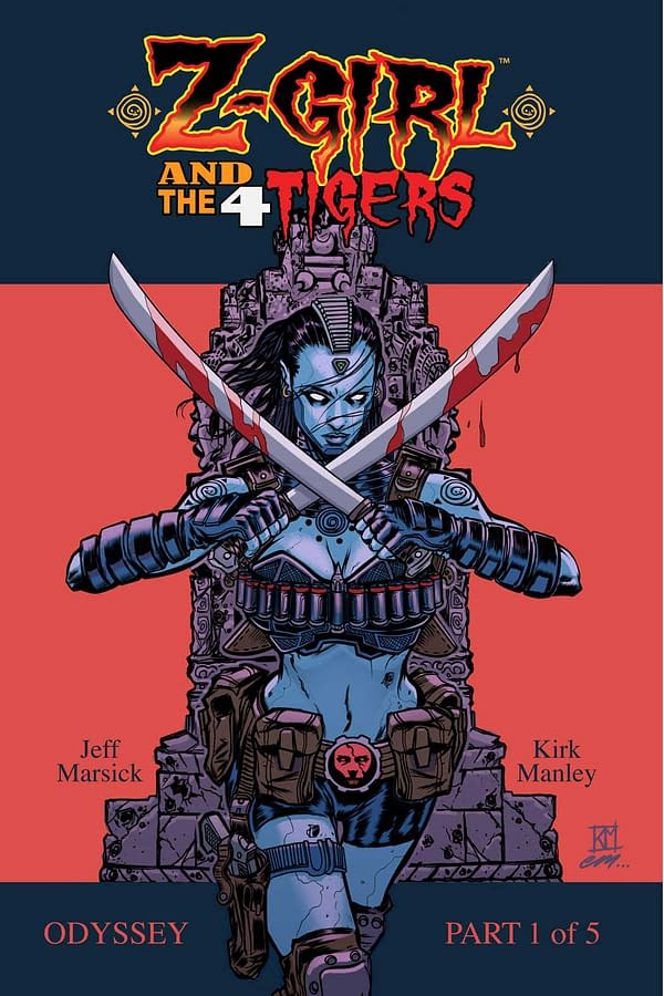 San Diego Debut:  Z-Girl And The 4 Tigers by Kirk Manley and Jeff Marsick