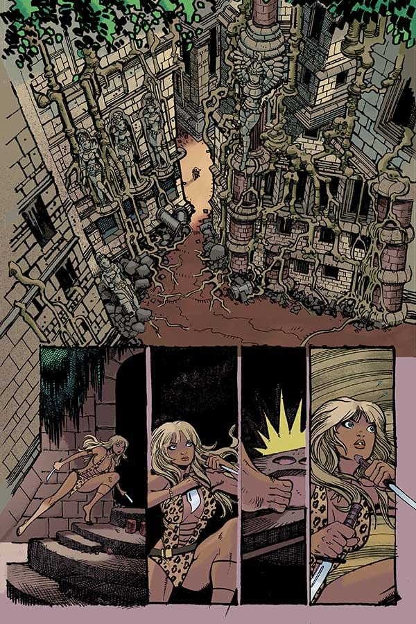 A Look At Moritat's Art For Sheena #0 25-Cent Issue
