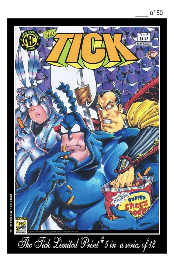 The Tick Comics, Shirts, Postcards And Print Exclusives For San Diego Comic-Con 2017