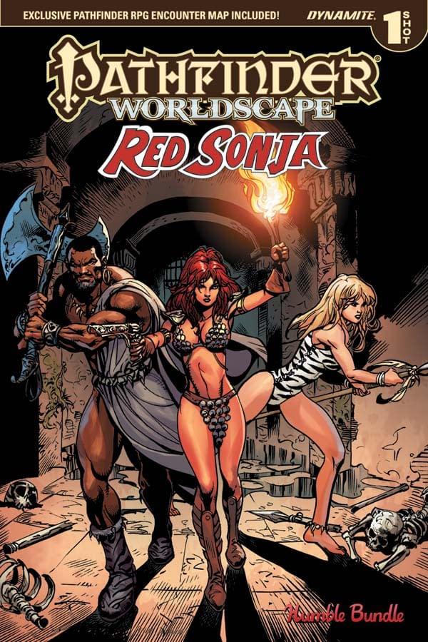 Pathfinder Worldscape: Red Sonja #1 cover by Roberto Castro and Mohan