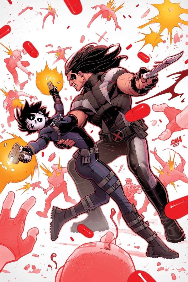 Domino and Warpath, Sittin' in a Tree… K-I-S-S-I-N-G in Marvel's Weapon X #14