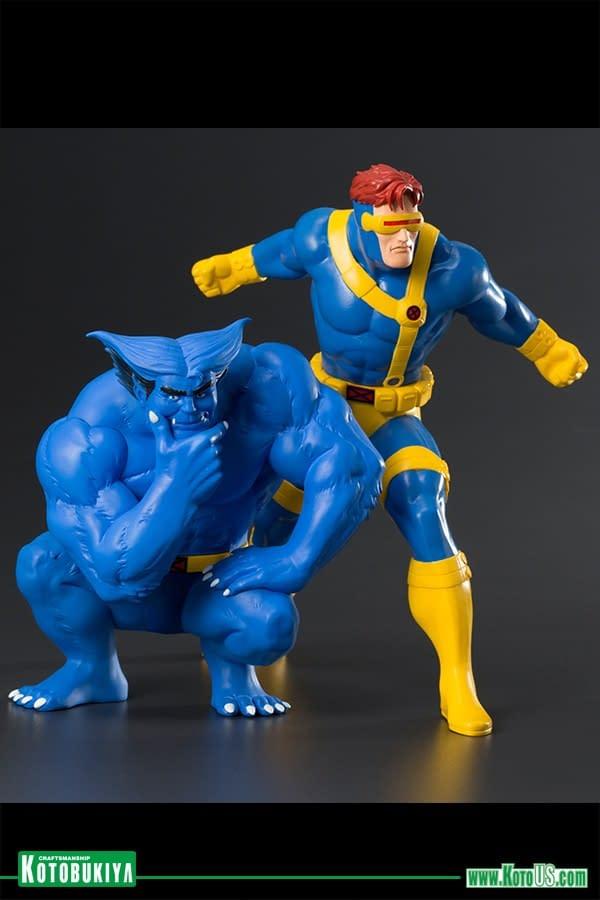 Cyclops and Beast X-Men Animated Series Statues on the Way from Kotobukiya