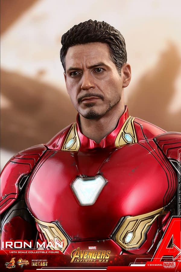Iron Man Mark 50 Diecast Infinity War Hot Toys 3