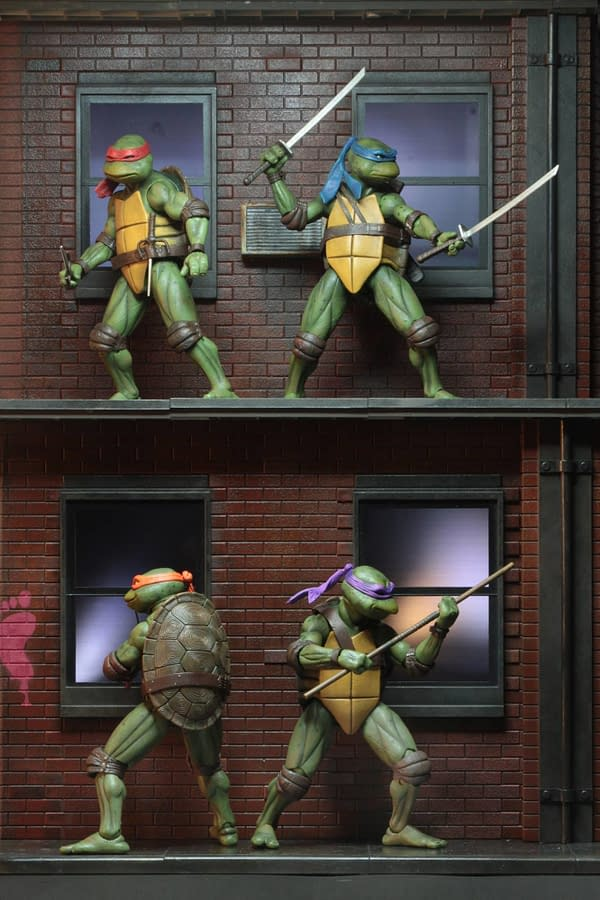 Sdcc 2018 NECA Exclusive TMNT 1990 Diorama 9