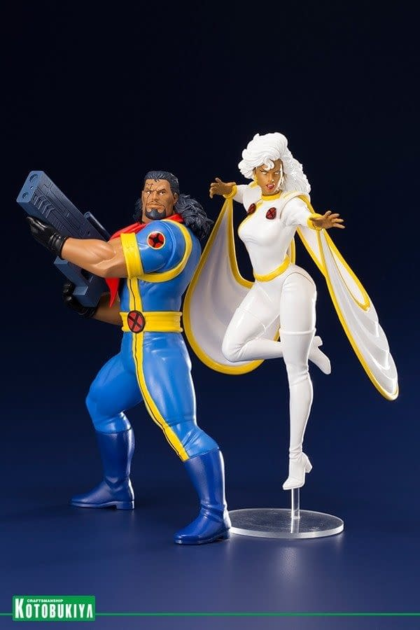 X-Men Animated Series Bishop and Storm Kotobukiya Statue
