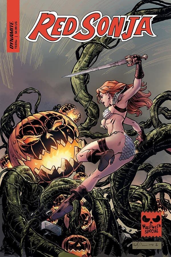 5 Hallowe'en Comics from Dynamite for Bettie Page, Red Sonja, Elvira, Vampirella, Army of Darkness