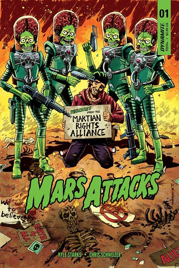Rock Candy Mountain's Kyle Starks and Chris Schweizer Create Mars Attacks Comic for Dynamite